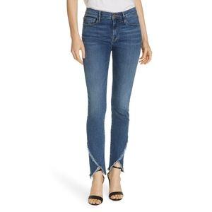 NWT FRAME Le Skinny de Jeanne Asymmetric Hem Jeans